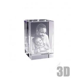 Bloc de verre rectangle 9 cm - Gravure 3D