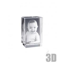 Bloc de verre rectangle 8 cm - Gravure 3D