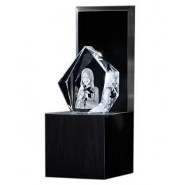 """Bloc iceberg 13 cm sur socle lumineux """"Illumination"""""""