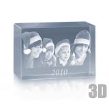 Bloc en verre photo laser 3D