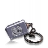 Porte-clés photo laser rectangle classique