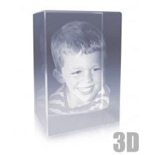Bloc de verre vertical photo laser - Gravure 3D