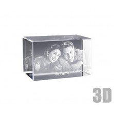 Bloc de verre horizontal photo laser 3D