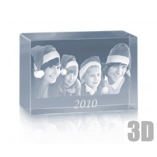 Bloc en verre photo laser 3D