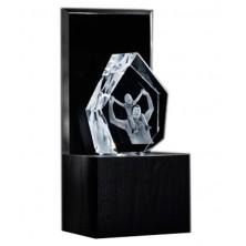 """Bloc iceberg 19 cm sur socle lumineux """"Illumination"""""""
