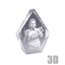 Bloc en verre Iceberg 13 cm - Gravure 3D