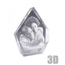 Bloc en verre Iceberg 19 cm - Gravure photo 3D