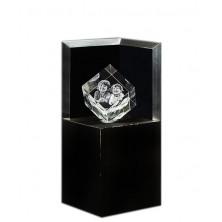 Socle lumineux Deluxe pour cube 6 cm